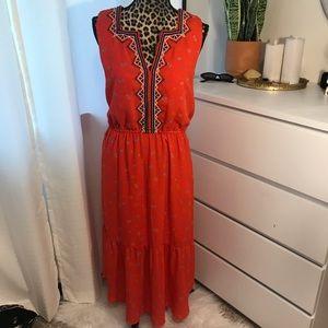 Red gap dress